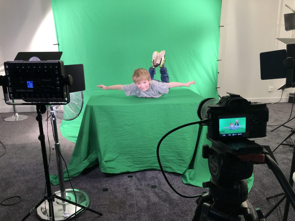 Green screen film fun