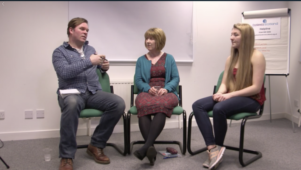 Dyslexia Scotland discussion documentary