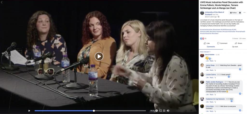 UWS Livestream panel discussion