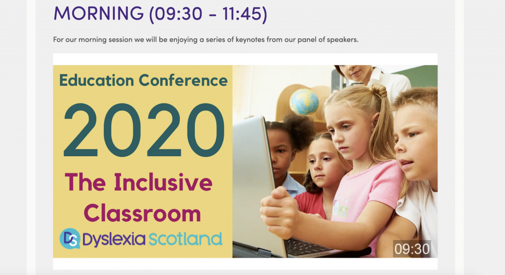 Dyslexia Scotland 2020 annual conference
