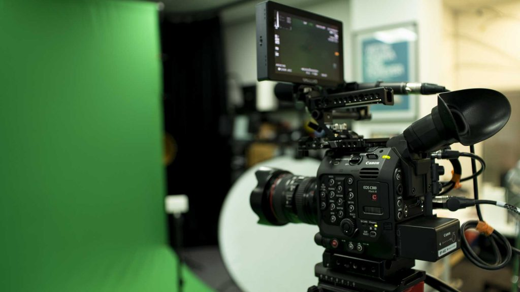 Inside our filming studio