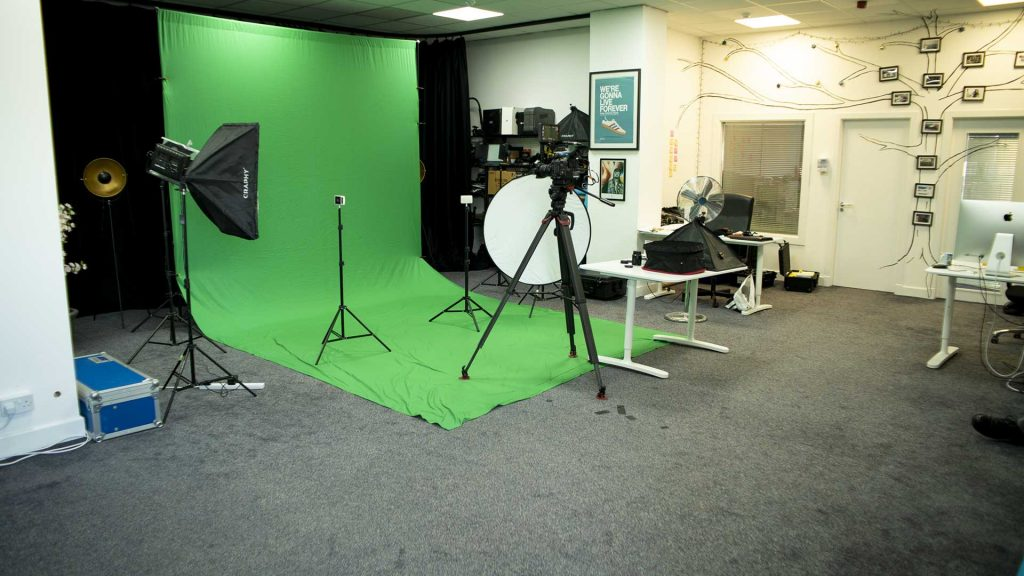 Our filming studio is a fully customisable, safe and controlled space